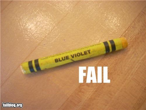 Crayon Color FAIL