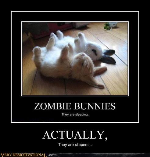 bunnies,slippers,zombie