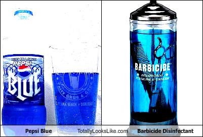 Pepsi Blue Totally Looks Like Barbicide Disinfectant