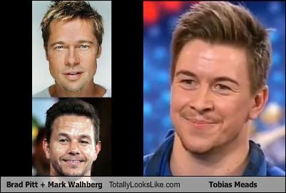 Brad Pitt + Mark Wahlberg Totally Looks Like Tobias Mead (from Britain's Got Talent)