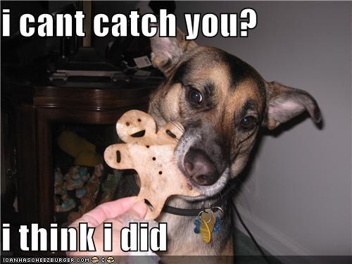i cant catch you?  i think i did