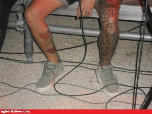tattoos,legs,funny