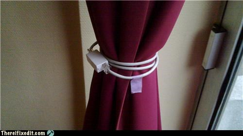 cable,drapes,dual use,phone