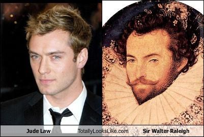 Jude Law Totally Looks Like Sir Walter Raleigh