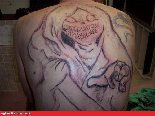 monster,tattoos,really bad,funny,g rated,Ugliest Tattoos