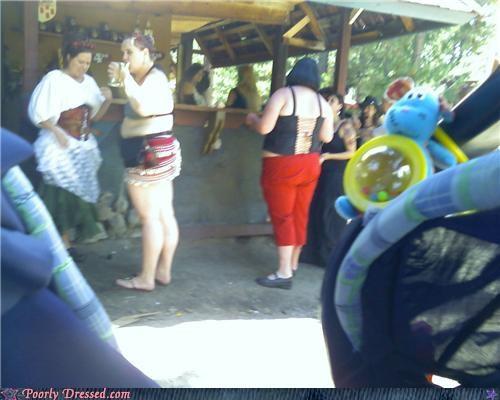 amusement park,flip flops,skirt,wtf