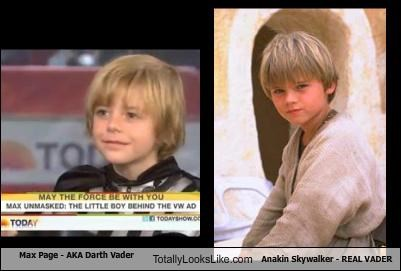 Max Page (AKA Darth Vader) Totally Looks Like Anakin Skywalker (Real Vader)