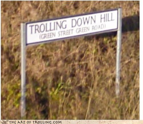 It's a Down Hill Trolling Race!