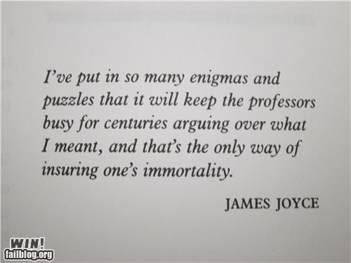 James Joyce WIN