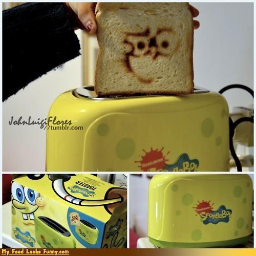 appliances,bread,SpongeBob SquarePants,spongebob toast,spongebob toaster,toast,toaster