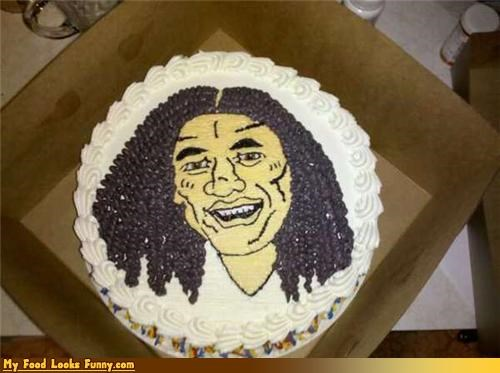 Funny Food Photos - Troy Polamalu Cake
