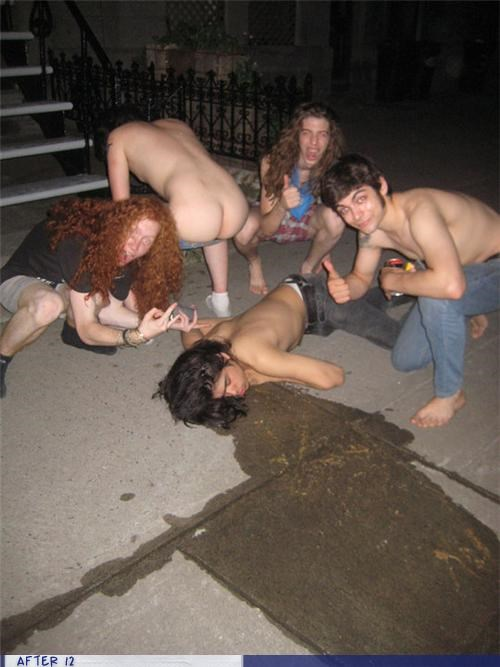 butt,friends,moon,passed out,puke,vomit