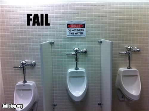FAIL Bathroom Warning Sign