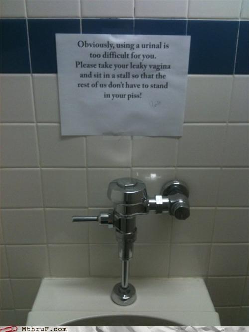 bathroom,note,sign,urinal,vagina,wtf