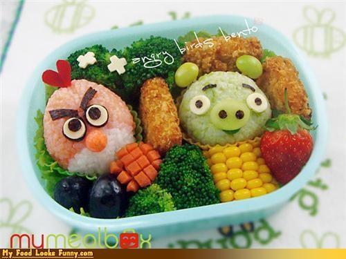 angry birds,bento,bento box,meal,rice