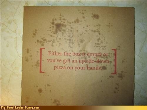 box,empty,pizza,upside down