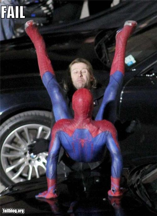 Things That Are Doing It: Spidey Stunt FAIL