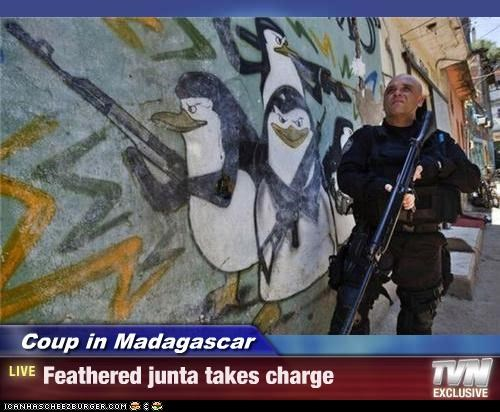 Coup in Madagascar - Feathered junta takes charge