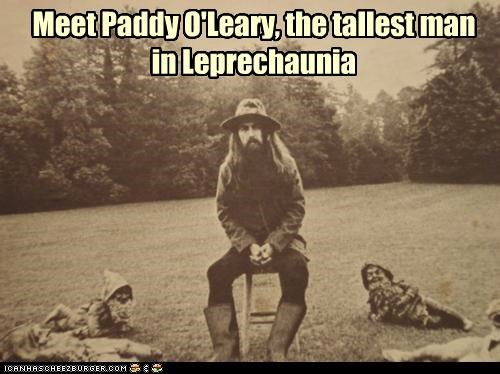 Meet Paddy O'Leary, the tallest man in Leprechaunia