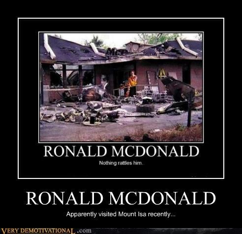 Ronald McDonald,storm,unflappable
