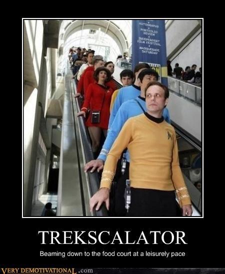 escalator,red shirt,Star Trek
