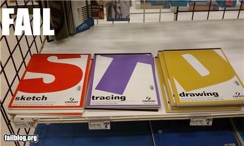 Art Supplies Product Display FAIL