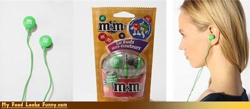 Funny Food Photos - M&M Earbuds