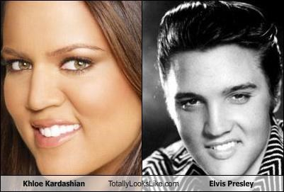 Khloe Kardashian Totally Looks Like Elvis Presley