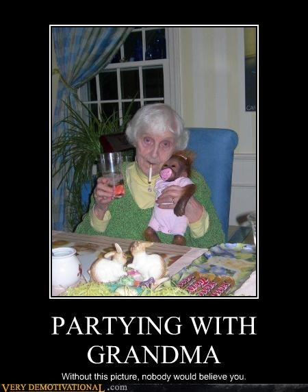 PARTYING WITH GRANDMA