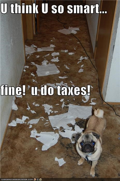 U think U so smart... fine!  u do taxes!