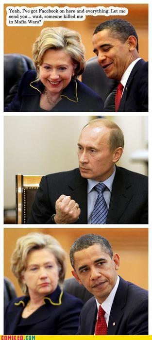 computer,face book,Hillary Clinton,lol,mafia wars,obama,politics,Putin,video games