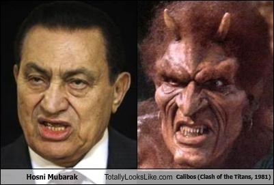 Hosni Mubarak Totally Looks Like Calibos (Clash of the Titans, 1981)