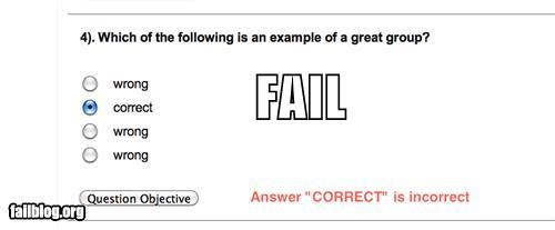 Multiple choice FAIL