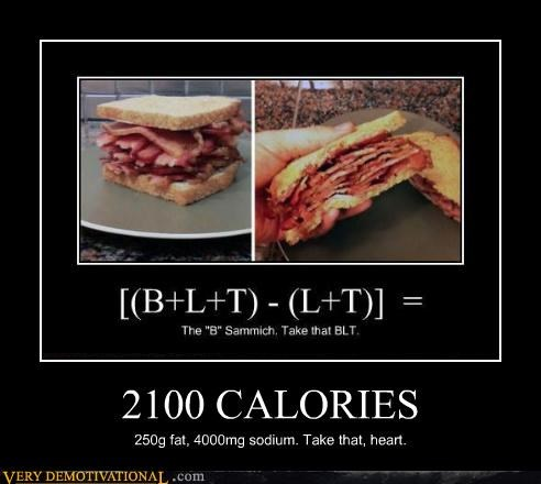 heart problems,u mad,calories,bacon