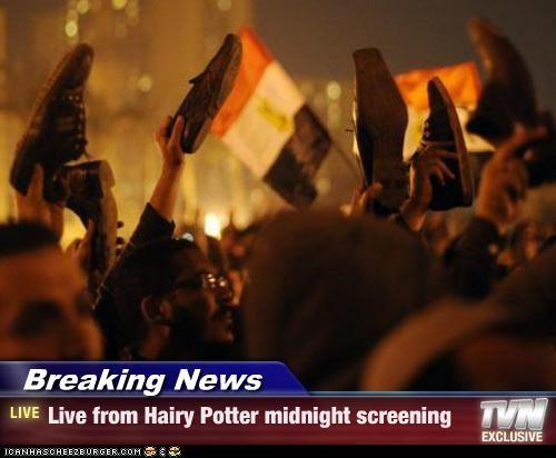 Breaking News - Live from Hairy Potter midnight screening