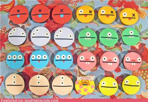 cupcakes,epicute,fondant,monster,ugly doll