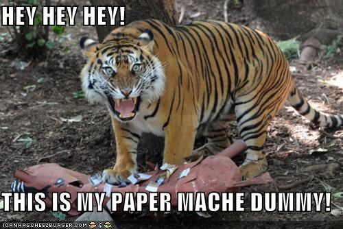 HEY HEY HEY!  THIS IS MY PAPER MACHE DUMMY!