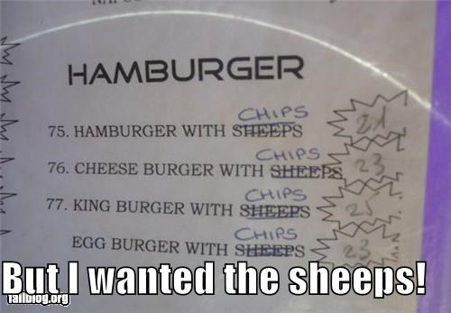 But I wanted the sheeps!