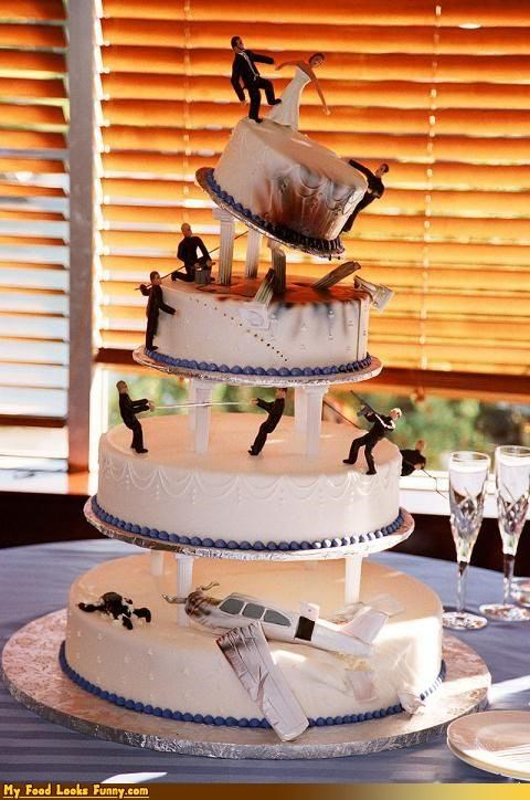 Funny Food Photos - Action Movie Wedding Cake