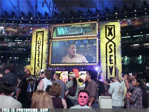 awesome,mask,photobomb,the rock,wrestling