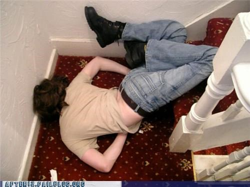 drunk,faceplant,ouch,passed out,stairs