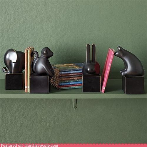 animals,bookends,metal,sculpture