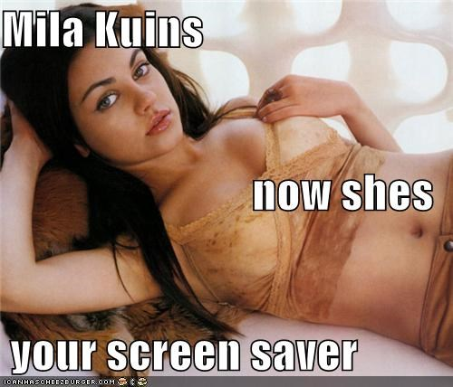 Mila Kuins now shes  your screen saver