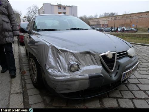 cars,duct tape,headlights