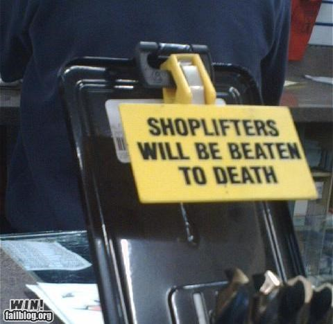 Shoplifting Punishment WIN