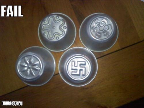 cooking,cupcakes,failboat,food,molds,swastikas