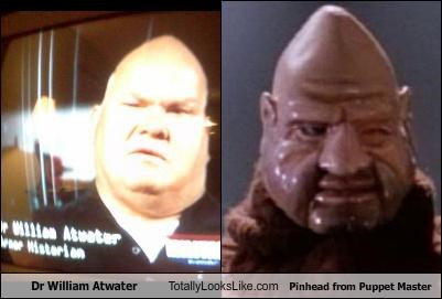 bald,dr-william-atwater,monster,movies,Pinhead,Puppet Master,shiny