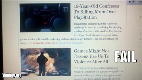 articles,failboat,juxtaposition,news,online,video games,violence