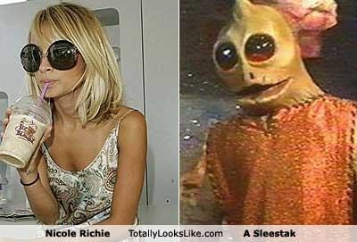 TLL Classics: Nicole Richie Totally Looks Like A Sleestak