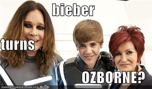 bieber turns OZBORNE?